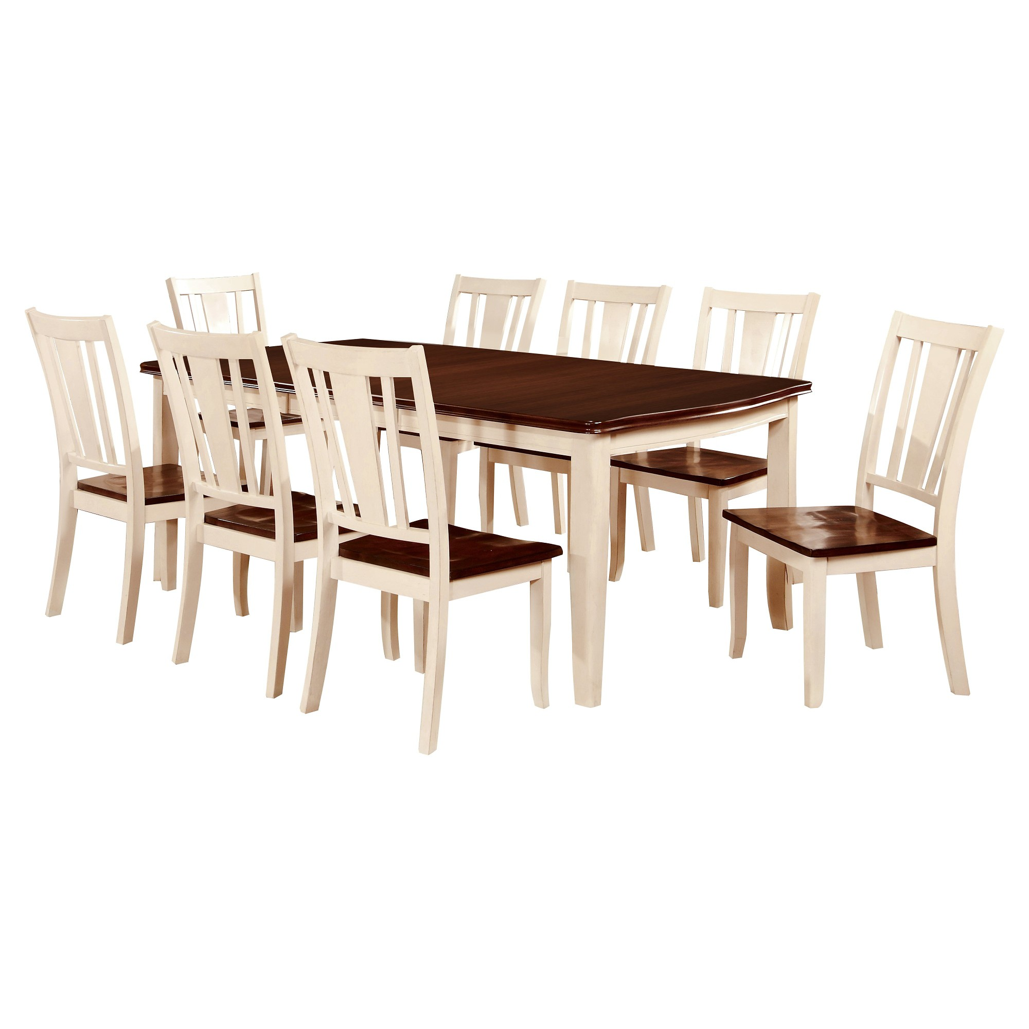 Sun u pine pc curved edge dining table set woodcherry and vintage