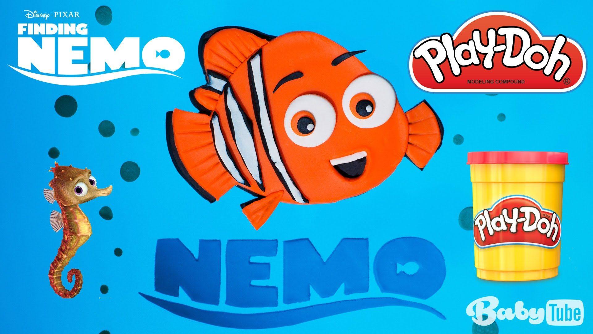 Buscando a Nemo de Plastilina Play Doh.
