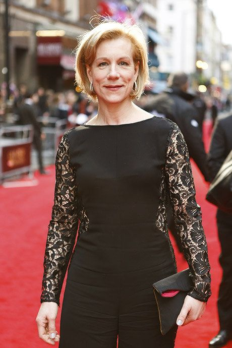 Juliet Stevenson on the red carpet for the Olivier Awards 2016 with MasterCard