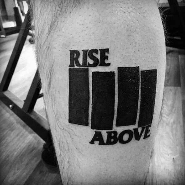 50 Black Flag Tattoo Designs For Men Rock Band Ink Ideas Black Flag Tattoo Tattoo Designs Men Flag Tattoo