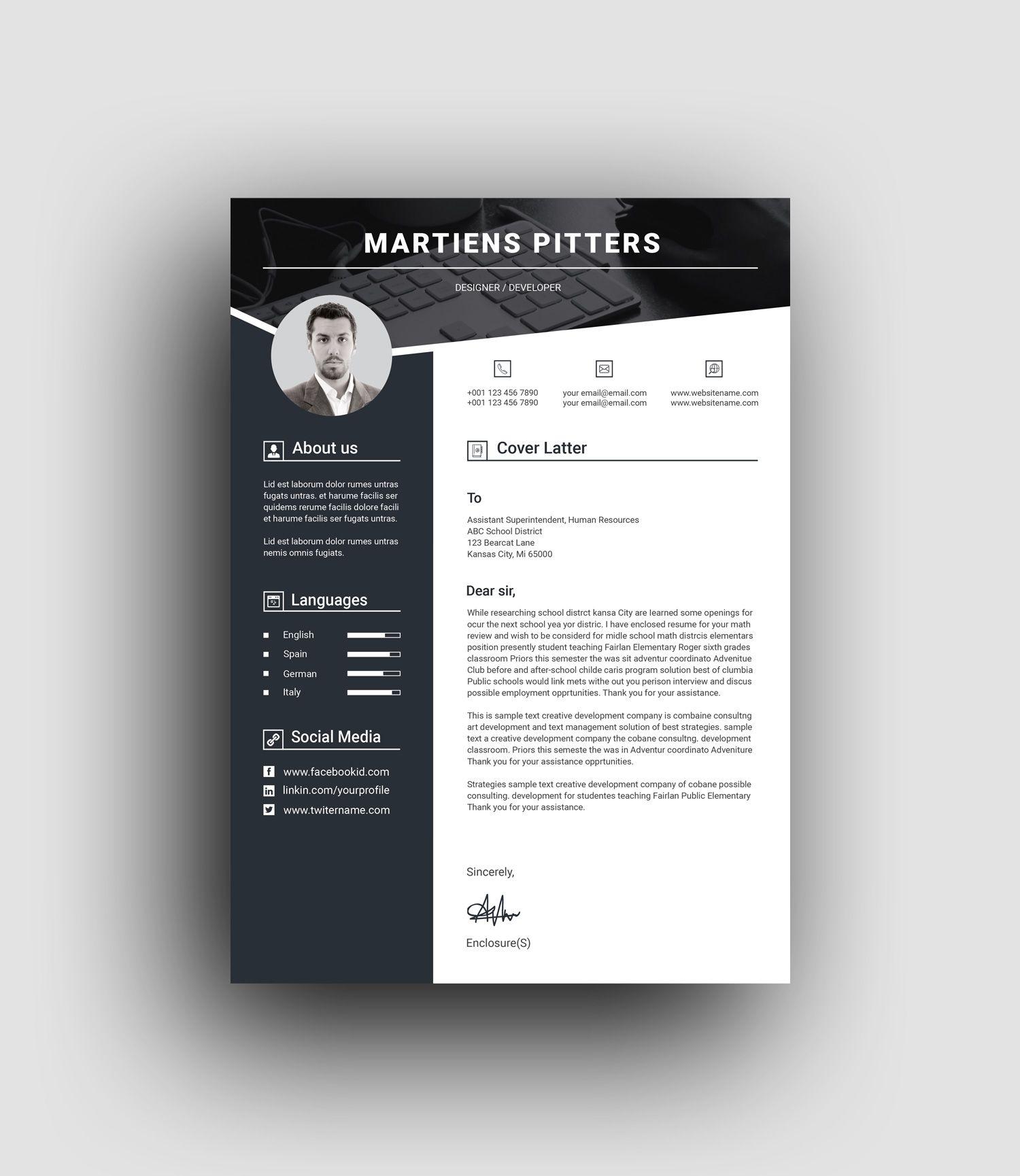 Berlin Premium Professional Resume Template Graphic Templates Resume Design Template Resume Template Professional Resume Design Creative