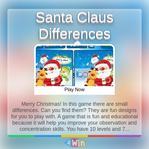 Santa Claus Differences Game Free Online Games Play Free Online Games Free Online Games Games