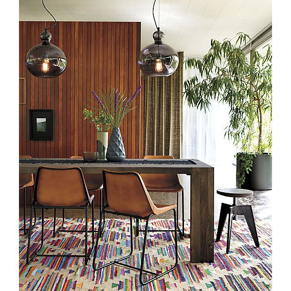 Modern Dining Room Rugs: Panja Rug From CB2, It's Really Cute With Brown, Means You