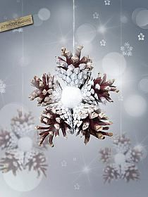 Zapfen - Stern #weihnachtsbastelnnaturmaterialien