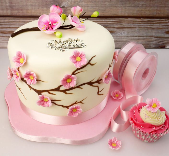 How To Make A Cherry Blossom Cake For Mothers Day2