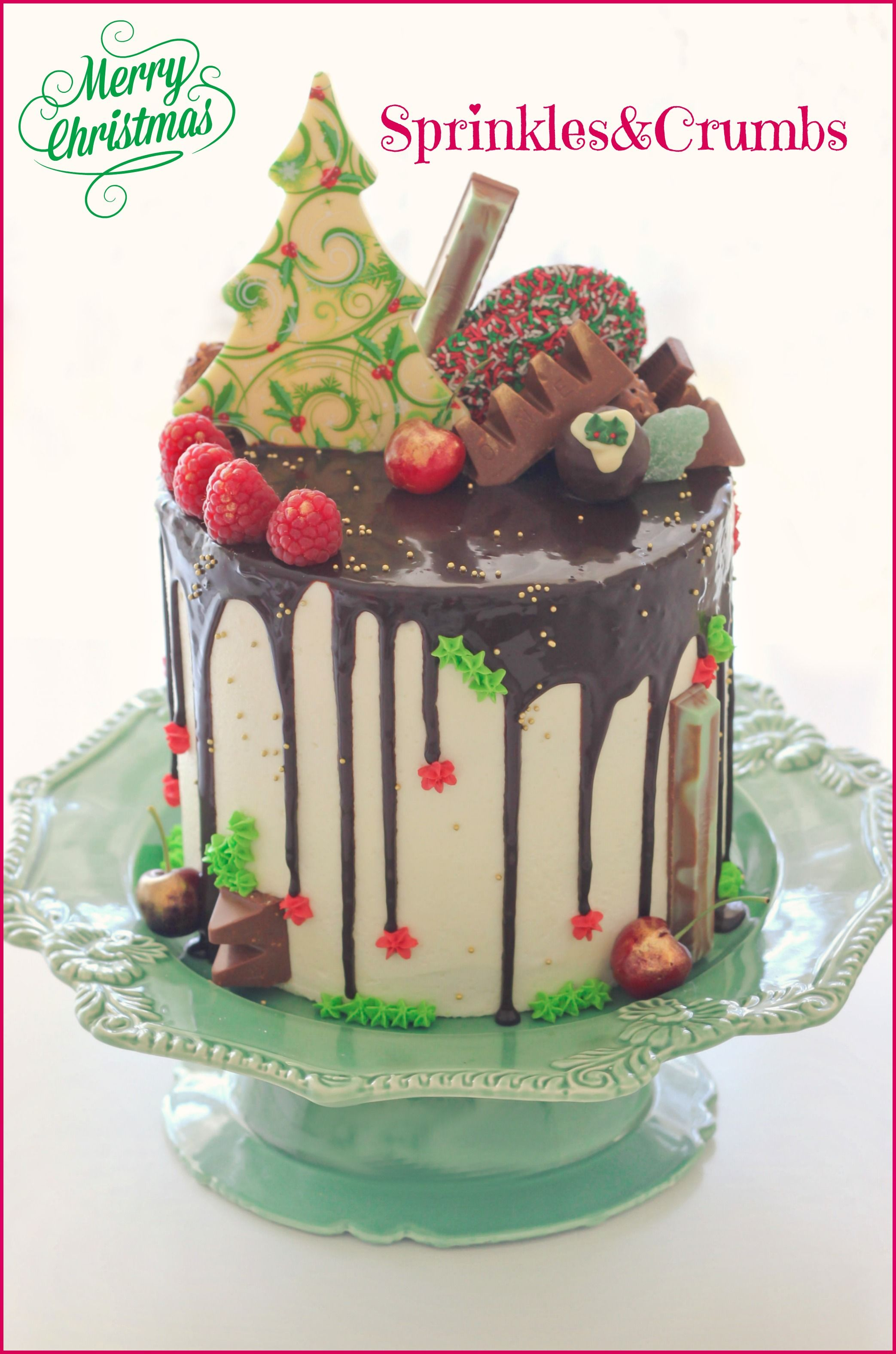 Chocolate Cake Christmas Design : Christmas drip cake Cake Recipes Pinterest Drip ...