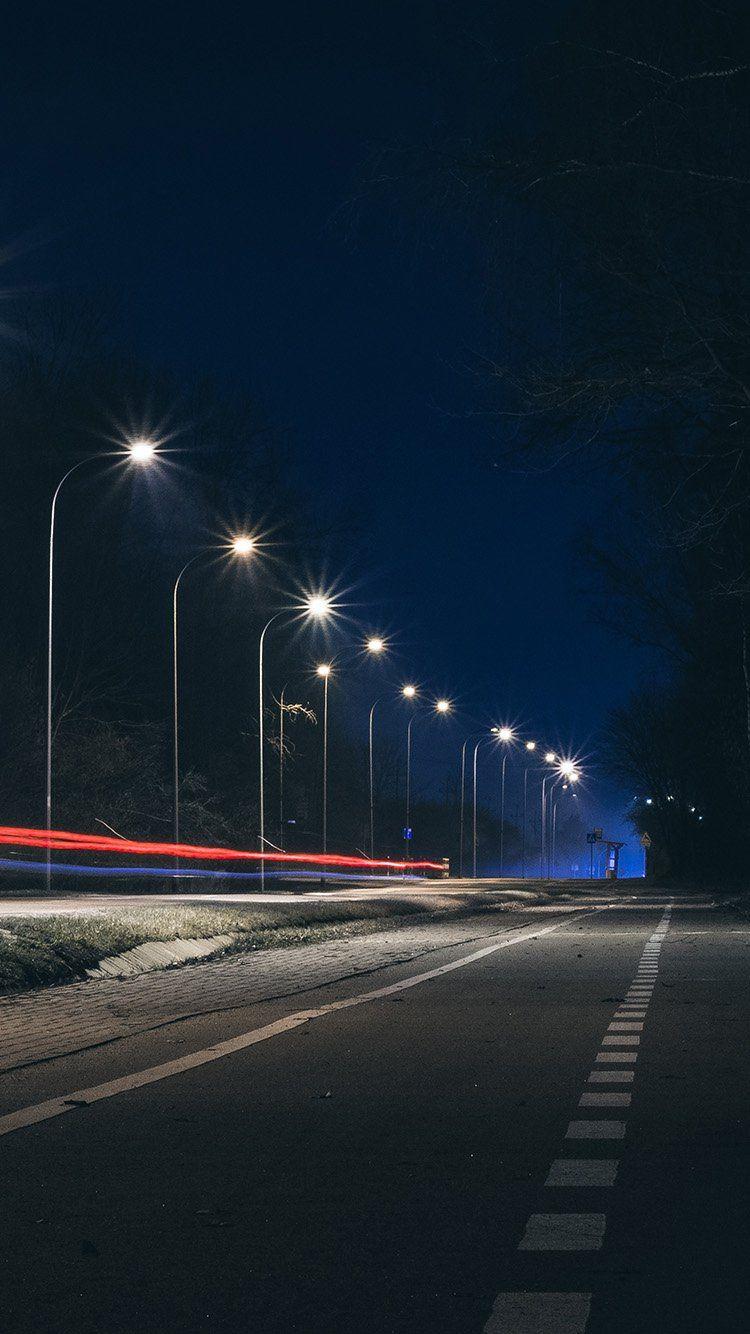 Street Lights Dark Night Car City Wallpaper Hd Iphone Light In The Dark Dslr Background Images City Wallpaper