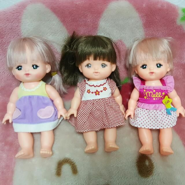 3a1a45783 Reserved) 3 preloved Mell Chan Dolls