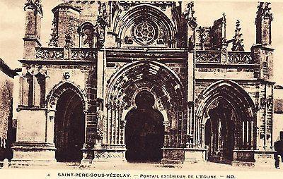 Saint Pere Sous Vezelay Portail Exterieur De Eglise Postcard
