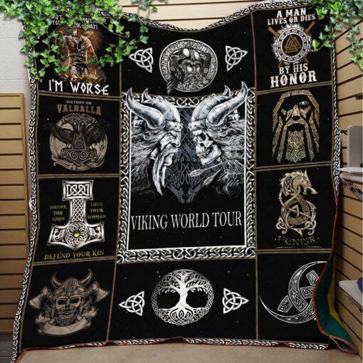 VIKING WORLD TOUR LIKE QUILT BLANKET JA0250 Quilts