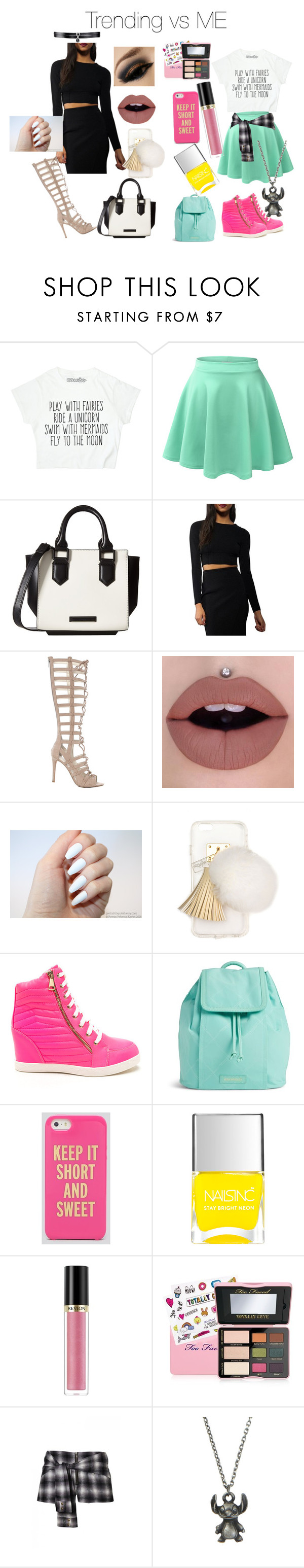 """""""Trending vs Me"""" by micaj on Polyvore featuring LE3NO, Kendall + Kylie, Ashlyn'd, Vera Bradley, Kate Spade, Nails Inc., Revlon, Too Faced Cosmetics, Disney and Fallon"""