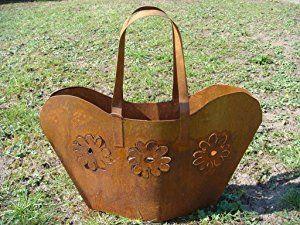 Tasche metall rost pflanztasche gartendeko beetdeko for Gartendeko rost krone