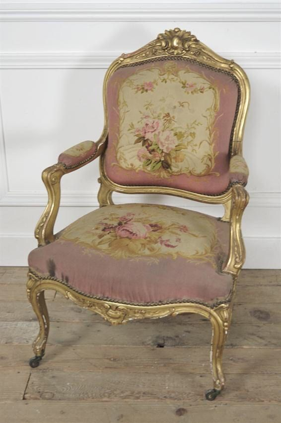 Antique French Gilded Arm Chair