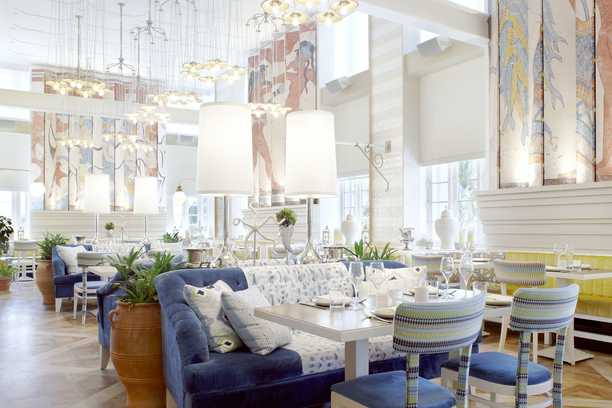 Byblos Miami, South Beach, Miami, Florida, USA. Interior Design by Studio Munge.   Follow @studiomunge   www.studiomunge.com _______________________________________________ #design #interior #hospitality #restaurant #byblos #miami #inkentertainment #studio #munge #studiomunge #decor #inspiration #lounge #artdeco #vibe #summer #fresh #dinning #room #pattern #colour