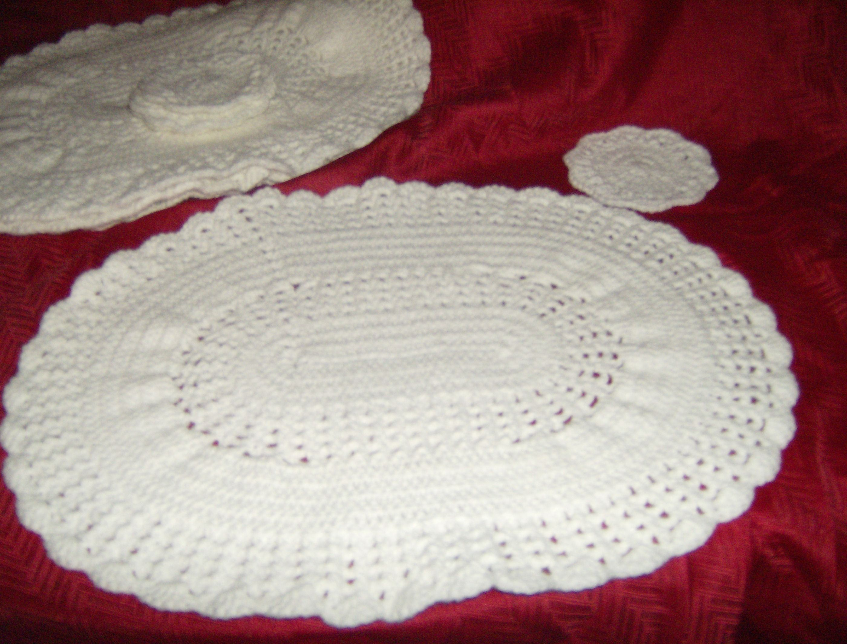 Crochet Pattern For Oval Placemat : Placemats Crochet Pinterest