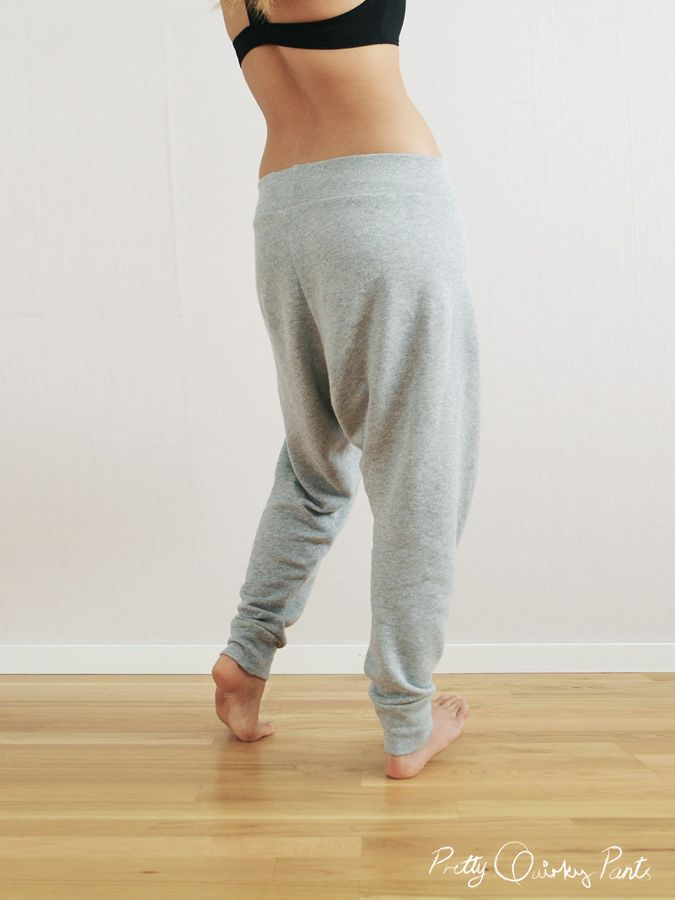 DIY harem pants. Because who doesn\'t want to look like they\'ve just ...