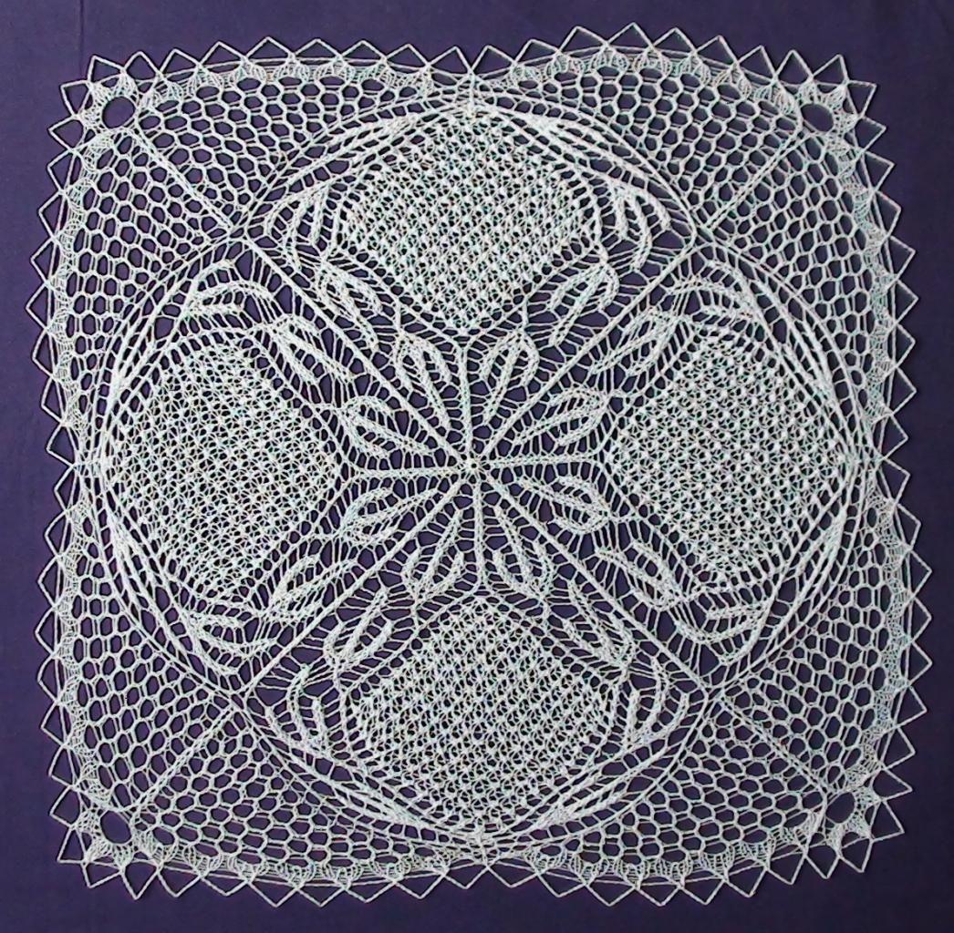 tricoter napperon aiguilles