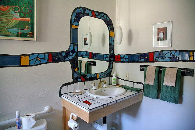 Hundertwasser Bathroom - Mirror and Sink