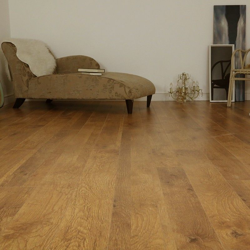Series Woods 10mm Harvest Oak V Groove Laminate Flooring