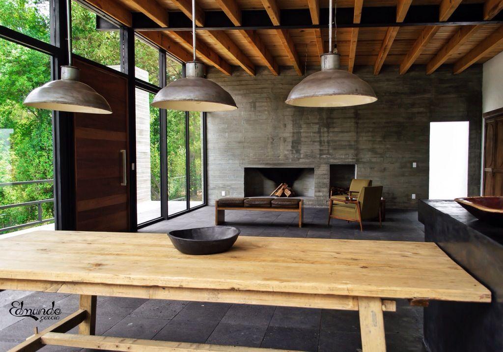 Estilo industrial contempor neo en valle de bravo for Como hacer una mesa estilo industrial