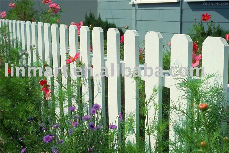 barrière en bois blanche-image-Clôtures, treillis et portails-Id du ...