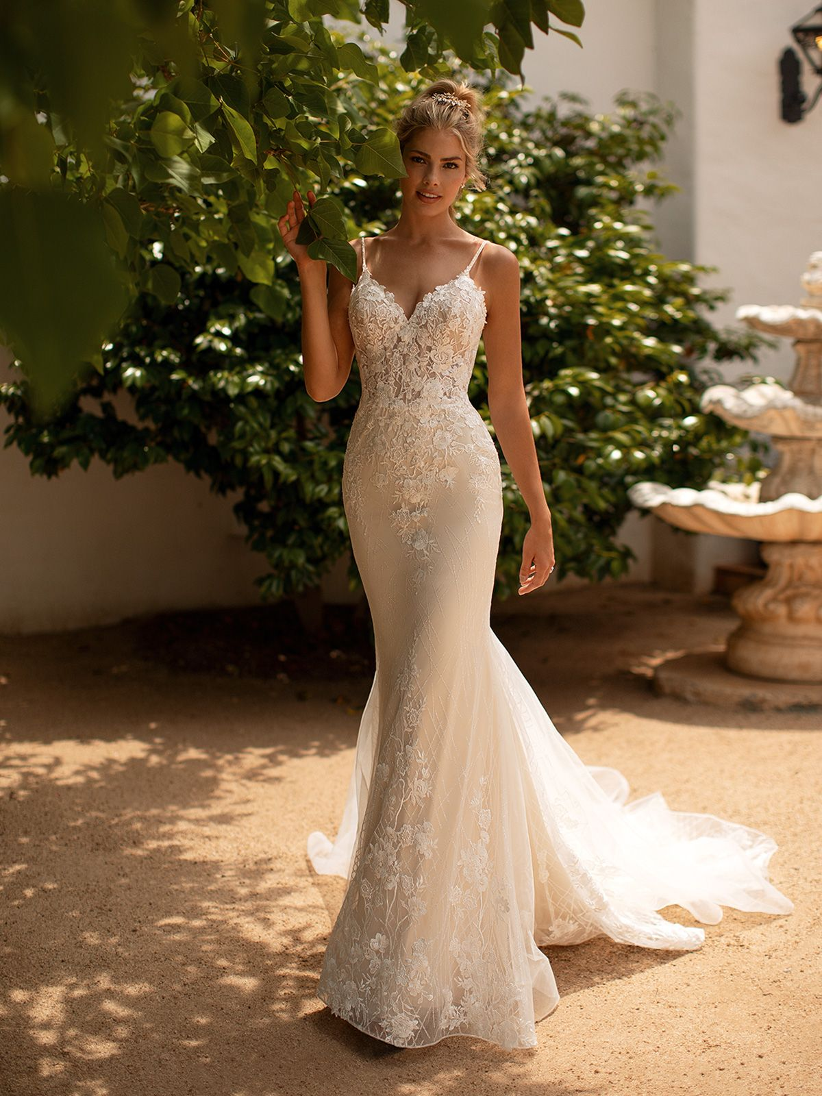 Checkered sparkle mermaid wedding dress moonlight