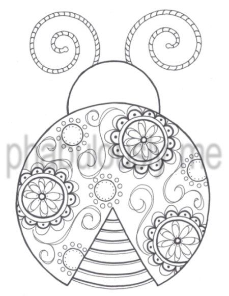Coloring Page Digital Download Hand Drawn Ink Doodle Art