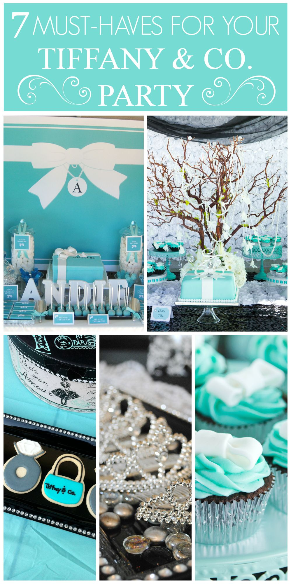 Breakfast At Tiffanys Party Ideas Bridal Shower Tiffany Blue Cupcakes