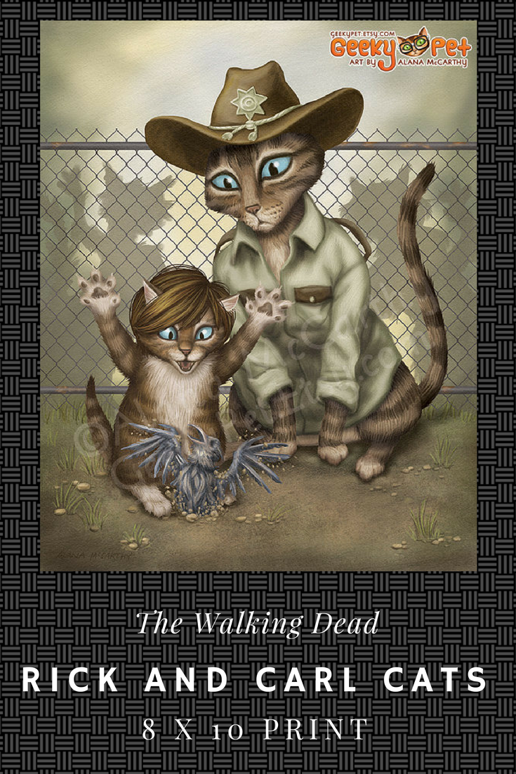 The Walking Dead Rick Carl Cats Sherrif Rick Teaching His Kitten Carl The Way Of The World And How To Be Dead Man Walking The Walking Dead Stuff And Thangs