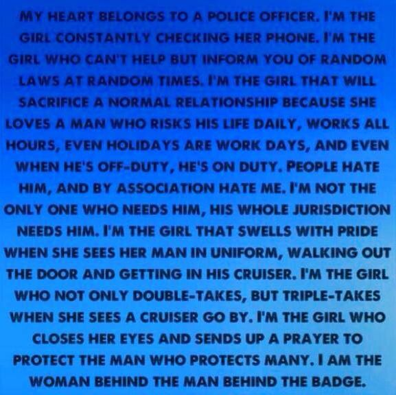 My heart belongs to a police officer <3