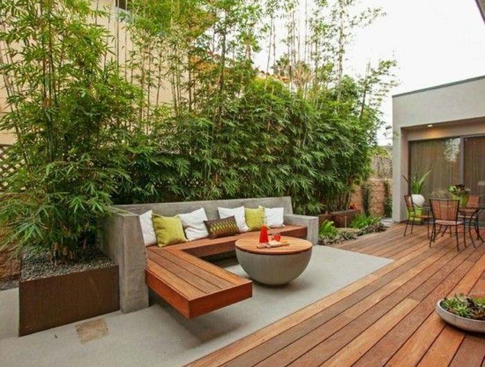 Voici Nos Exemples Pour Un Banc De Jardin Jardines Jardin Moderno Jardines Modernos