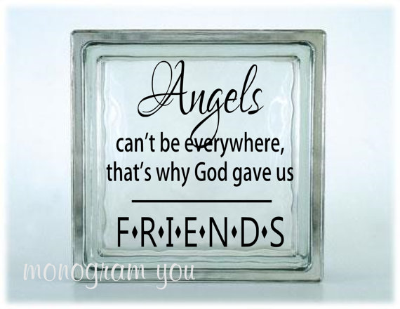 Glass Block Vinyl Decal Angels Cant Be Everywhere Thats Why God - Glass block vinyl decals