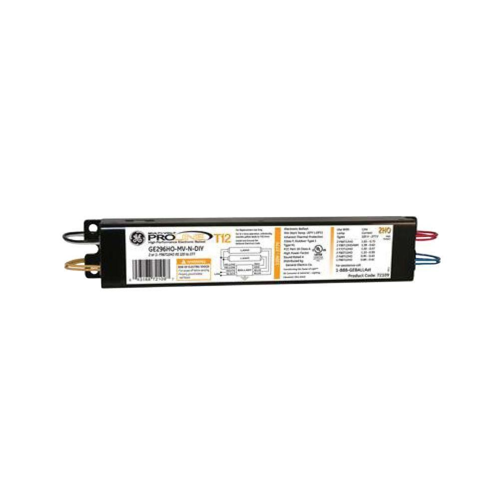 GE 120 to 277-Volt Electronic Ballast for Hi-Output 8 ft ...
