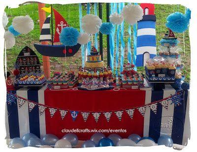 Claudell crafts fiesta tem tica n utica birthday for Decoracion nautica infantil