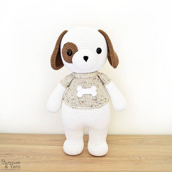 CROCHET PATTERN in English and Spanish - Thomas the Friendly Dog ...