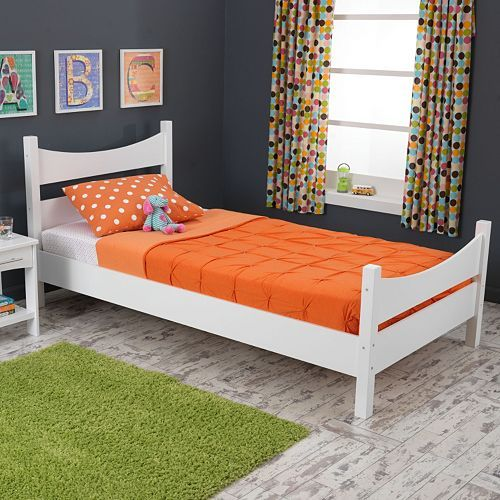 This modern KidKraft Addison twin bed makes the transition from toddler to big-kid bed a breeze.