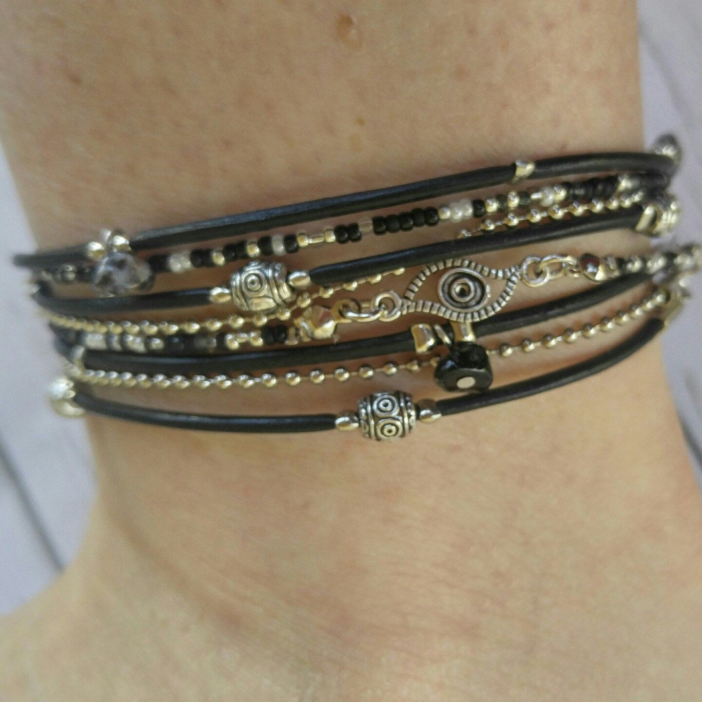 or adjustable bracelets textured leather ankle and armband bracelet products anklet python