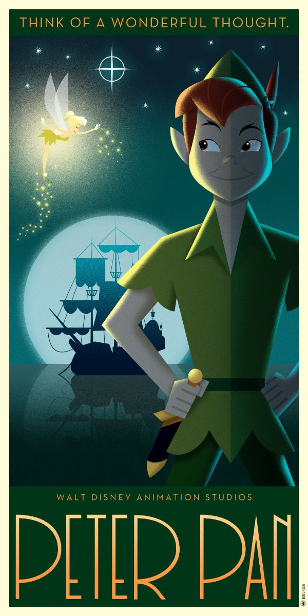 Disney Art Déco series II on Behance