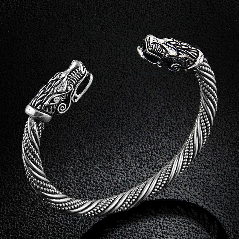 5da1d7296ee0 Lafone Teen Wolf Head pulsera joyería India accesorios de moda pulsera  vikingo hombres pulsera brazalete pulseras para mujeres brazaletes