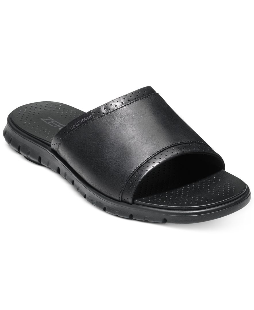 12e89d8daa32 Cole Haan Men s Zerogrand Strap Slide Sandals