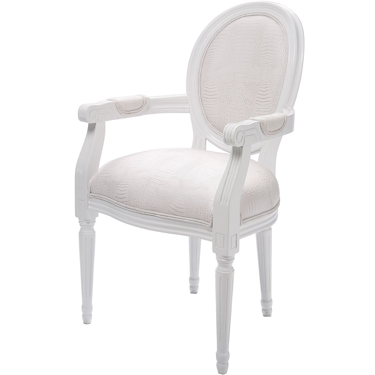 Lavish Louis White Chair | Blanc de Blancs... en 2019 | White ...