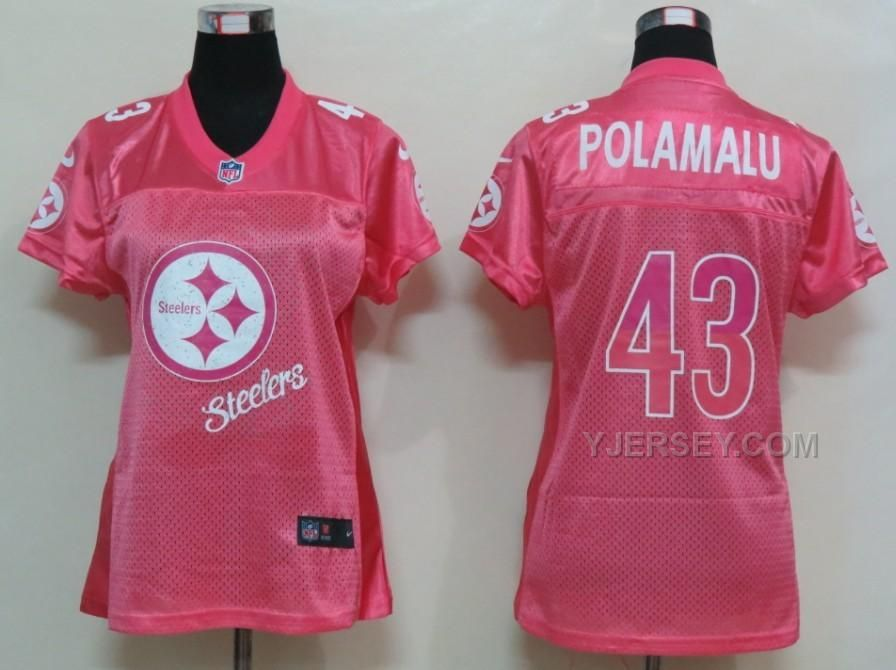 eb0f6986b4e Shop Women s Pink White size M Tees - Short Sleeve at a discounted price at  Poshmark. Description  Women s pink and white NFL Troy Polamalu jersey