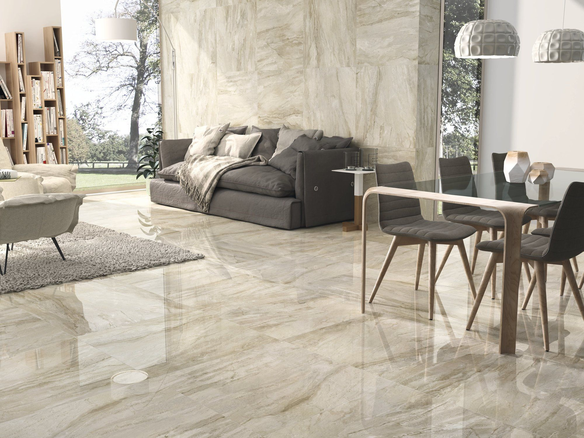 Gio 75x75cm From Ape Is A Stone Tile That Shows Well Defined  # Muebles Vibbo Malaga
