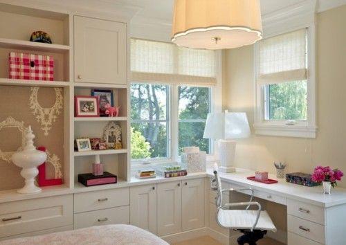 Zonas de estudio para dormitorios de adolescentes - Decoracion habitacion estudio ...