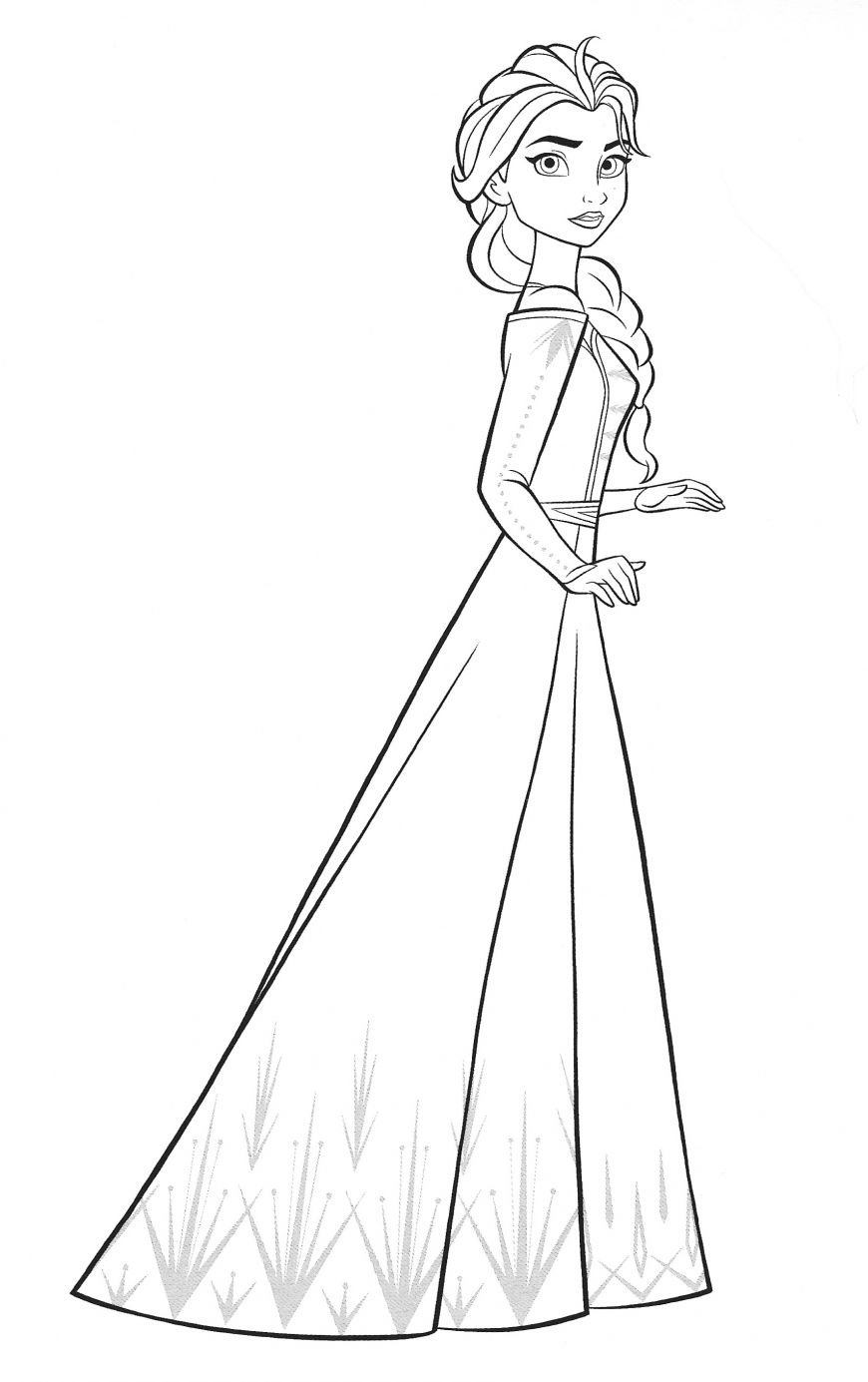 Frozen 30 free coloring pages with Elsa  디즈니 공주 색칠하기