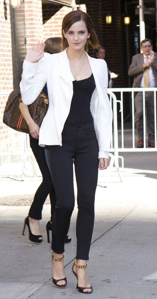 shop best sellers top-rated official detailing White Blazer, black top, black skinnies & heels   Fashion ...