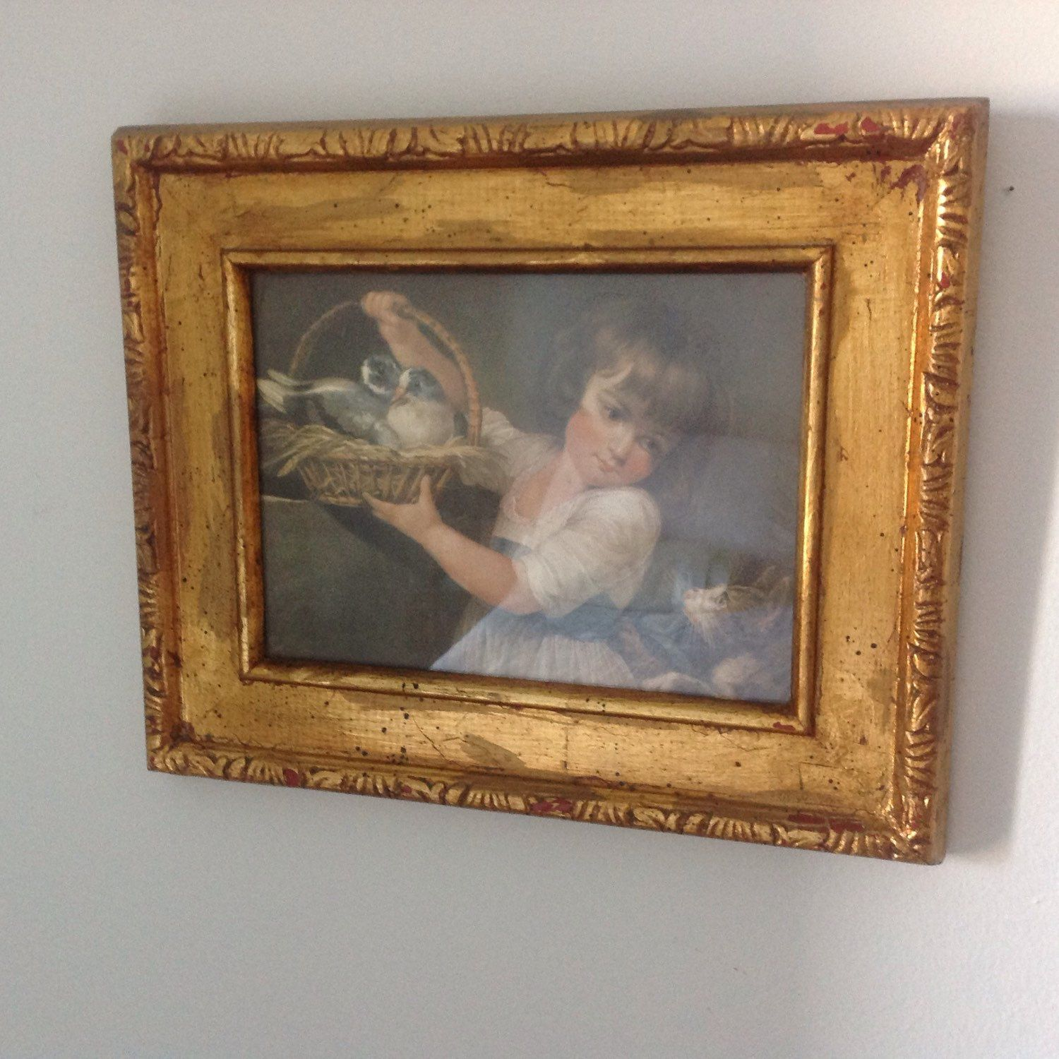 Vintage Germany etching signed by the artist-probably back from 1950-60s in beautiful original frame.