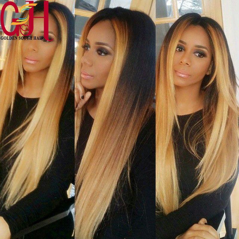 0517f5de9e3 Find More Wigs Information about Middle part ombre blonde front lace ...