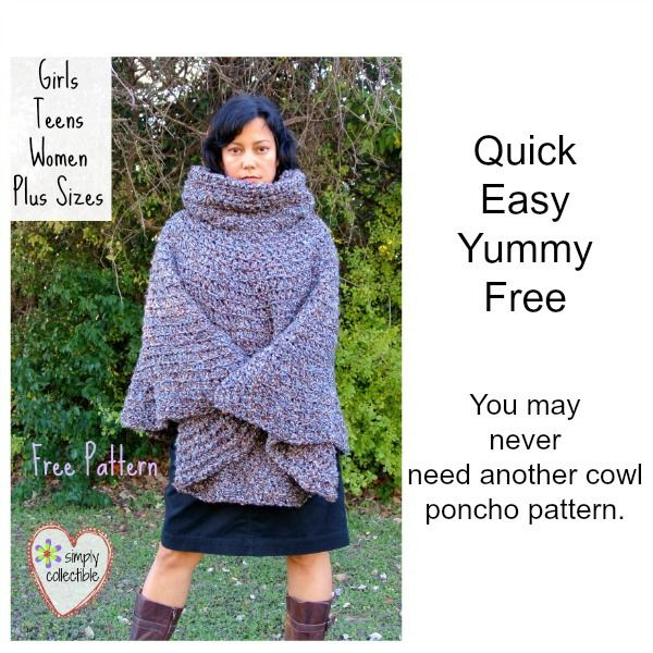 Do You Need A Free Poncho Pattern For A Girl A Teen A Woman Or