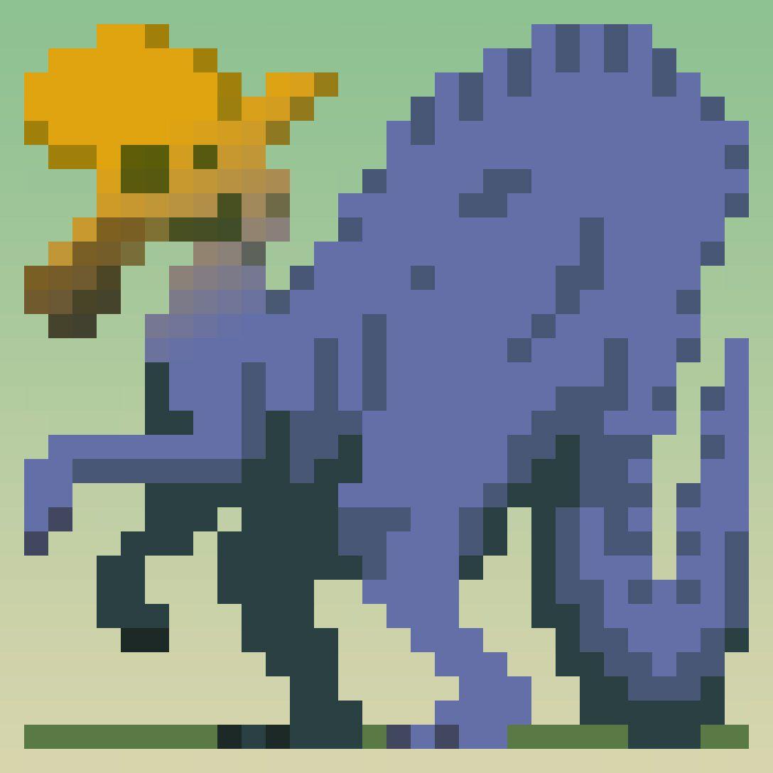 Lambeosaurus Pixel Art Daily Dinosaur Dinosaursalso Jurassic Park Fuse Box